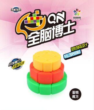 裕鑫 蛋糕三階 智勝 裕鑫 魔術方塊 異形 三階概念魔方 3階 黃綠紅 蛋糕 全腦博士 益智玩具