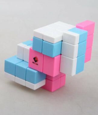 鏡面 三階二連三 梯色 三色連體 魔術方塊CT限制旋轉異形魔方2連3益智玩具
