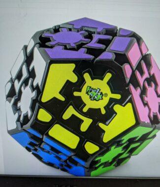 【小小店舖】藍藍 齒輪五魔方 異形 魔術方塊 益智玩具  魔方  黑