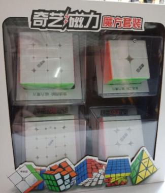 奇藝魔方格 套裝 2345 禮盒 套裝M 四件套 速解魔方 磁力